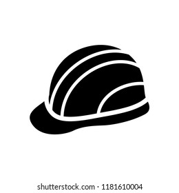 Safety helmet flat icon. Hard Hat Construction Icon