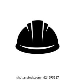 Safety helmet flat icon. Hard Hat Construction Icon