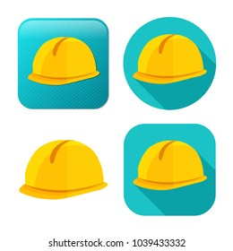 safety helmet icon - construction icon - work engineer illustration - industrial equipment