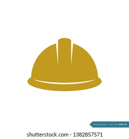 Safety Helmet Icon Vector Template