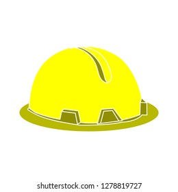 safety helmet icon-construction icon-engineer sign-contractor illustration-Safety vector