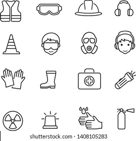 Safety icon thin line vector