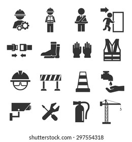 safety icons set