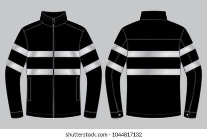 Safety Jacket Design : Reflective light tape
