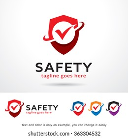 Safety Logo Template Design Vector