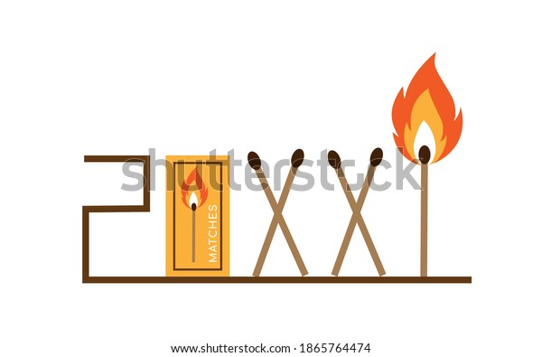 Calendar Years That Match 2021 Safety Match 2021 Calendar New Year Stock Vector (Royalty Free