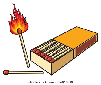 safety matches and matchbox
