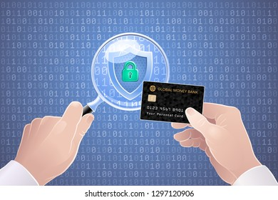 Safety Online Payments. Illustration on the subject of 'Cybersecurity'.