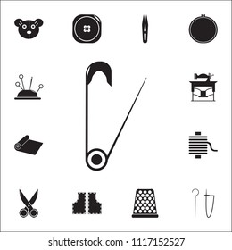 Safety pin icon. Detailed set of Handmade icons. Premium quality graphic design sign. One of the collection icons for websites, web design, mobile app on white background