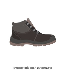Safety Shoes Concept. Vector Illustration