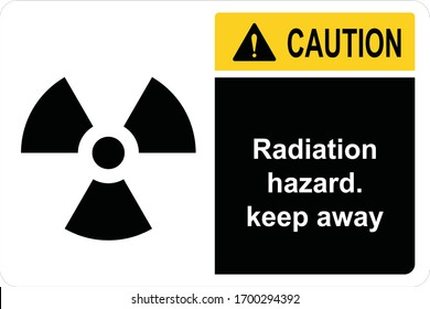 Safety Sign Radiation hazard keep away ANSI Z535