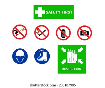 Safety signs individually in area working
