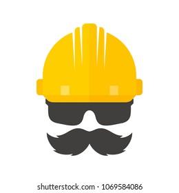 safety symbol. helmet icon. labor logo. vector eps.