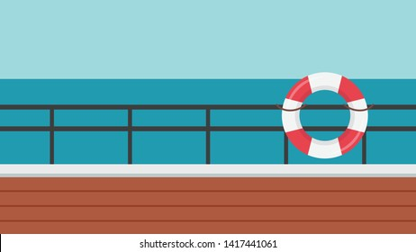 safety torus vector. symbol. logo design. poster design. background. safety torus on the ship. Deck railing. Boat fence.
