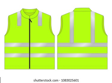 Safety Vest Design Reflective light tape