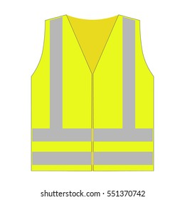 Objective Yellow Reflective Vest Reflective Jacket High Visibility Knitted Reflective Safety Vest Logo Printing Vest Safety On Road Firm In Structure Security & Protection Workplace Safety Supplies