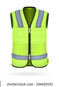 Safety vest isolated on the white.