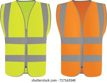 Safety vest. vector illustration