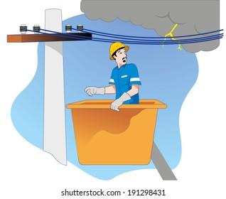 safety at work, danger of lightning