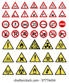 safety and work sign collection vector