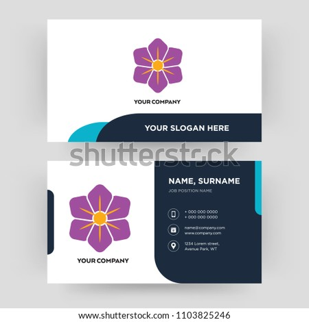 Saffron business card design template visiting stock vector royalty saffron business card design template visiting for your company modern creative and clean friedricerecipe Gallery