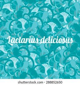 saffron milk cap Mushroom blue seamy pattern