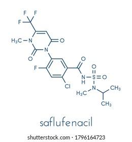 Saflufenacil herbicide molecule. Skeletal formula.