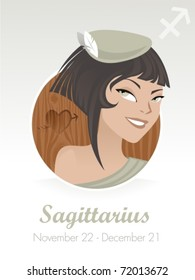Sagitarius  astrological sign. Vector illustration