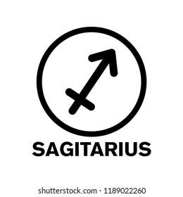sagitarius - zodiac icon vector