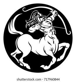 A Sagittarius archer centaur horoscope astrology zodiac sign icon