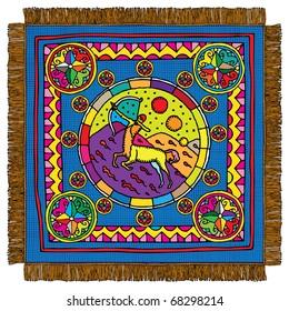 Sagittarius horoscope sign carpet