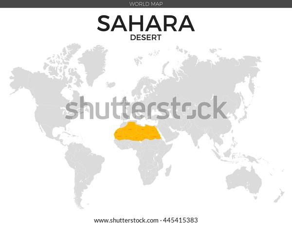 Sahara Desert Location Modern Detailed Vector Stock ...