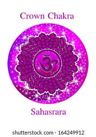 Sahasrara chakra vector illustration