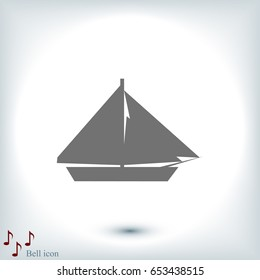 sail boat icon, vector best flat icon, EPS