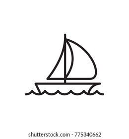 sail boat vector icon