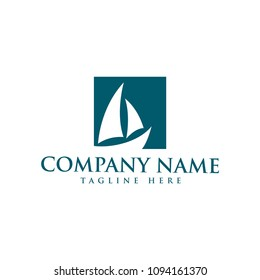 sail boat/nautical design logo template