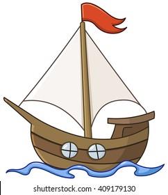 cartoon sailboat images stock photos vectors shutterstock rh shutterstock com cartoon sailboat images cartoon sailboat drawing