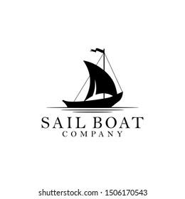 Sailboat concept stroke symbol Logo design graphic elements vector illustration download