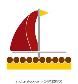 sailboat icons. flat illustration of sailboat vector icon. sailboat sign symbol