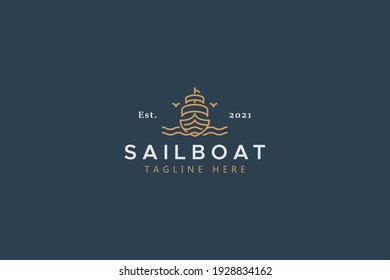 Sailboat Marine Company Brand Logo Template