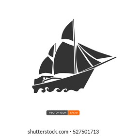 Sailboat or phinisi icon vector. Vector illustration eps.10