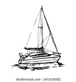 Sailboat Doodle Images, Stock Photos & Vectors   Shutterstock