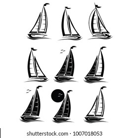 SAILBOAT , SHIP ILLUSTRATION , VECTOR