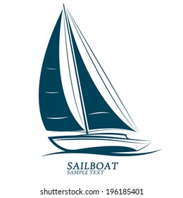 sailboat vector.illustration