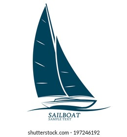 sailboats vector.illustration