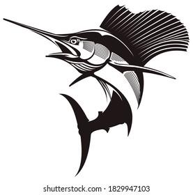 Sailfish Fishing Logo. Unique and Fresh Sailfish Logo Template. Great to use as your Sailfish fishing activity.