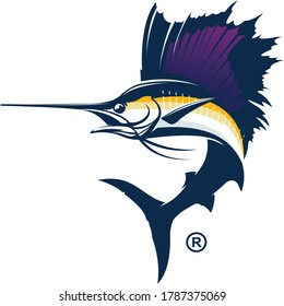 Sailfish Logo Template. Great Sailfish jumping out of the water. create for sailfish fishing activity.