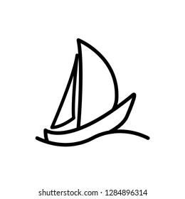 sailing boat icon vector template