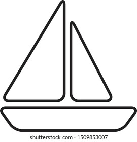 sailing boat vessel clipper ship icon vector