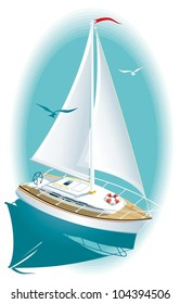 Sailing boats on the high seas